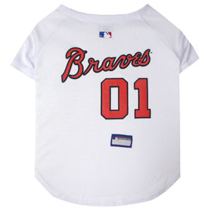 Doggienation-MLB - Atlanta Braves Dog Jersey - Large