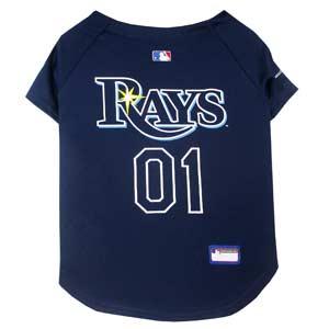 Doggienation-MLB - Tampa Bay Rays Dog Jersey - Medium