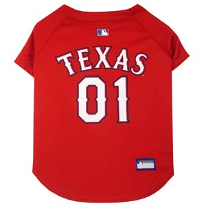 Doggienation-MLB - Texas Rangers Dog Jersey - Large