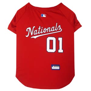 Doggienation-MLB - Washington Nationals Dog Jersey - Medium