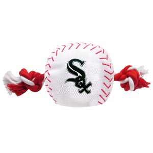 Doggienation-MLB - Chicago White Sox Baseball Toy - Nylon with rope - 8""