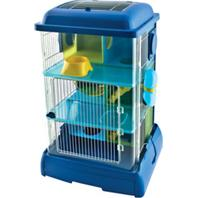 Ware Mfg - Critter Universe Avatower Small Pet Home - Clear&Blue - 13X11X21 Inch
