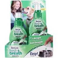 Tropiclean - Tropiclean Fresh Breath Drops Counter Display - 1.7 oz/ 6 Pack