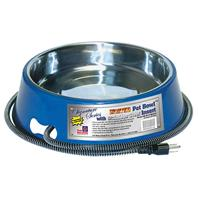 Farm Innovators - Pet - Heated Pet Bowl With Stainless Steel Insert - Blue - 3 Quart