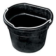 Farm Innovators - Heated Flat-Back Rubber Bucket - Black - 4.5 Gallon
