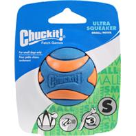 Chuckit - Ultra Squeaker Ball Dog Toy - Orange And Blue - Small