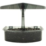 Droll Yankees - Observer Window Bird Feeder - Smoke Gray - .5 Lb Capacity