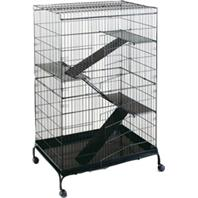 Prevue Pet Products - Steel Ferret Cage With Casters - Black
