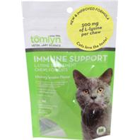 Tomlyn - Immune Support L-Lysine Supplement Chews For Cats - Hickory Smoke - 30 Count