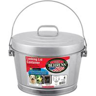 Behrens Manufacturing - Galvanized Steel Locking Can With Lid - Steel - 4 Gallon