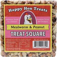 Durvet - Happy Hen Treats Treat Square - Mealworm/Peanut - 7.5 oz