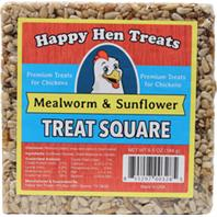 Durvet - Happy Hen Treats Treat Square - Mealworm/Sunflr - 6.5 oz