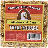 Durvet - Happy Hen Treats Treat Square - Mealworm/Corn - 6.5 oz