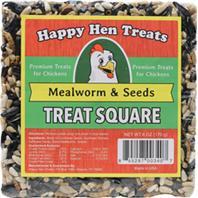 Durvet - Happy Hen Treats Treat Square - Mealworm/Seed - 6 oz