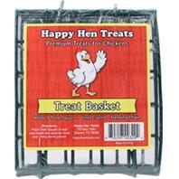 Durvet - Happy Hen Treats Treat Basket - Dark Green - 5X1.9X5 Inch