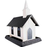 North States Industries - Village Collection Church Bird Feeder - White/Gray - 8 Lb Capacity