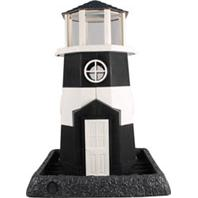 North States Industries - Village Collection Shoreline Lighthouse Birdfeeder - Black/White - 8 Lb Capacity