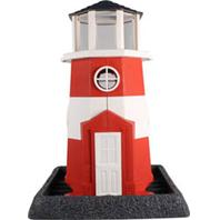 North States Industries - Village Collection Shoreline Lighthouse Birdfeeder - Red/White - 8 Lb Capacity