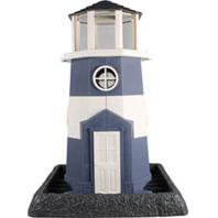 North States Industries - Village Collection Shoreline Lighthouse Birdfeeder - Blue/White - 8 Lb Capacity