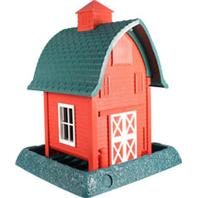 North States Industries - Village Collection Barn Bird Feeder - Red/Green/White - 5 Lb Capacity