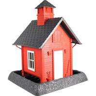 North States Industries - Village Collection School House Bird Feeder - Red/Gray/White - 5 Lb Capacity