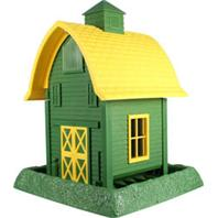 North States Industries - Village Collection Barn Bird Feeder - Green/Yellow - 5 Lb Cap
