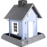 North States Industries - Village Collection Cottage Bird House - Blue/Gray/White - 5 Lb Capacity