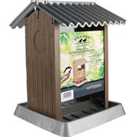 North States Industries - Village Collection Outhouse Bird Feeder - Brown/Silver - 4.25 Lb Capacity