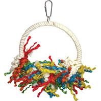 A&E Cage Company - Happy Beaks Rope Swing Preening Bird Toy - Assorted - 8 X 11 Inch
