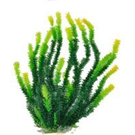 Aquatop Aquatic Supplies - Bushy Aquarium Plant With Weighted Base - Green - 20 Inch