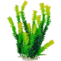Aquatop Aquatic Supplies - Bushy Aquarium Plant With Weighted Base - Green - 16 Inch