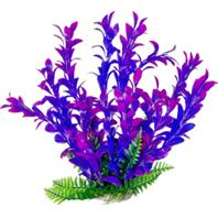 Aquatop Aquatic Supplies - Hygro-Like Aquarium Plant With Weighted Base - Pink/Purple - 9 Inch