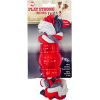 Ethical Dog - Play Strong Mini Tugs Chew With Rope - Red - Small