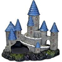 Blue Ribbon Pet Products - Exotic Environments Blue Spire Castle - Blue/Gray