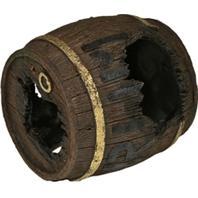 Blue Ribbon Pet Products - Exotic Environments Rum Barrel Horizontal - Brown - Small