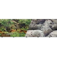 Blue Ribbon Pet Products - Double-Sided Rainforest/Boulder Background - 19 Inch