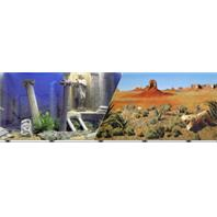 Blue Ribbon Pet Products - Double-Sided Underwater Atlantis/Desert Background - 19 Inch
