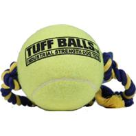 Petsport - Mega Tuff Ball Tug Dog Toy - Yellow - 4 Inch