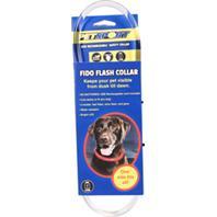 Petsport - Fido Flash Usb Rechargeable Led Safety Collar - Red - One Size