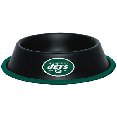 DoggieNation-NFL - New York Jets Dog Bowl - Stainless - One size