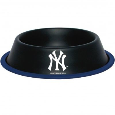 DoggieNation-MLB - New York Yankees Dog Bowl - Stainless - One- Size