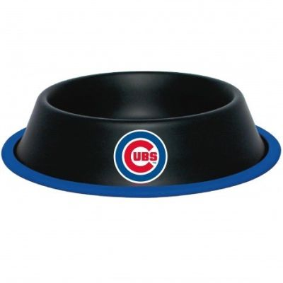 DoggieNation-MLB - Chicago Cubs Dog Bowl - Stainless - One- Size
