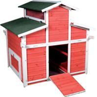 Ware Mfg - Little Red Hen Big Red Barn - Red/White