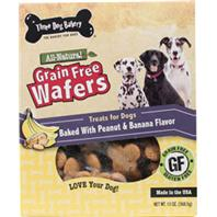 Three Dog Bakery - Grain Free Wafers - Peanut & Banana - 13 oz