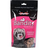 Marshall Pet  - Bandits Freeze Dried Ferret Treats - Rabbit - .75 oz