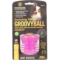Starmark - Everlasting Groovy Ball With USA Treat - Green - Small