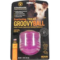 Starmark - Everlasting Groovy Ball With USA Treat - Green - Medium
