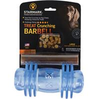 Starmark - Treat Dispensing Barbell With Usa Treat Rod - Blue - Large