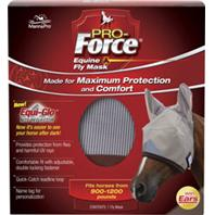 Manna Pro - Pro-Force Equine Fly Mask With Ears & Equi-Glo - Large