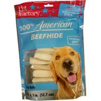 Pet Factory - 100% American Beefhide Chip Rolls Dog Chew - 5 In/18Pk